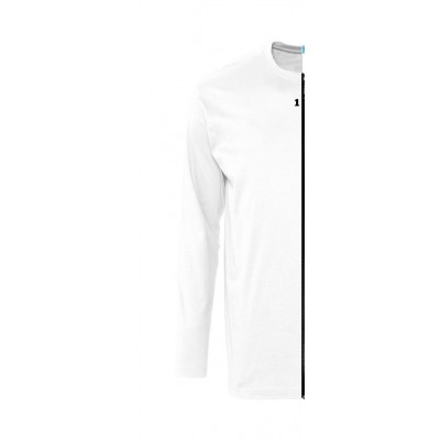 Home T-shirt bicolor man long sleeve left part white - 12teeshirt.com
