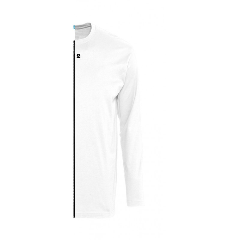 Home T-shirt bicolor man long sleeve right part white - 12teeshirt.com