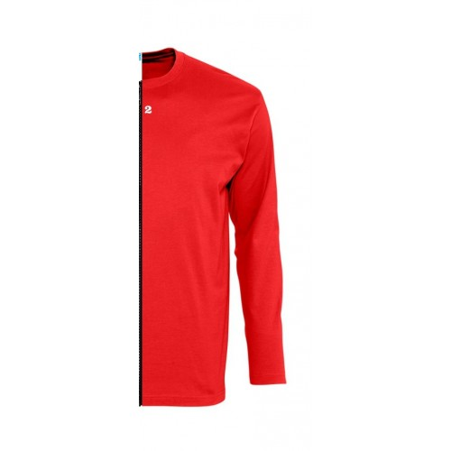 T-shirt bicolore man long sleeve right part red