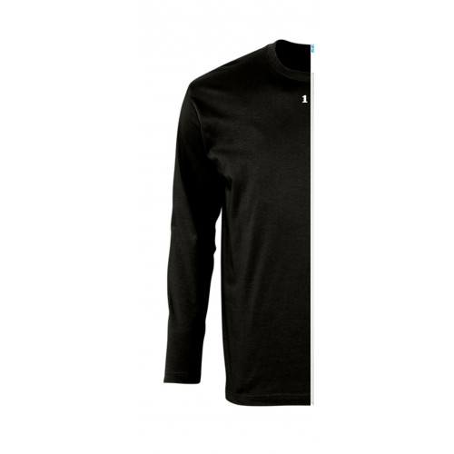 T-shirt bicolor man long sleeve left part black