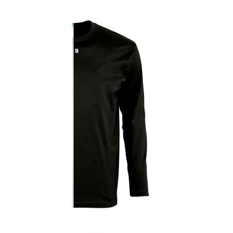 Home T-shirt bicolor man long right part sleeve black - 12teeshirt.com