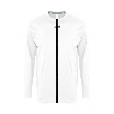 Accueil T-shirt séparable homme manches longues blanc - by12.fr