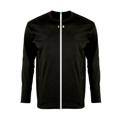 T-shirt separable man long sleeve black