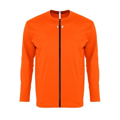 T-shirt separable man long sleeve orange