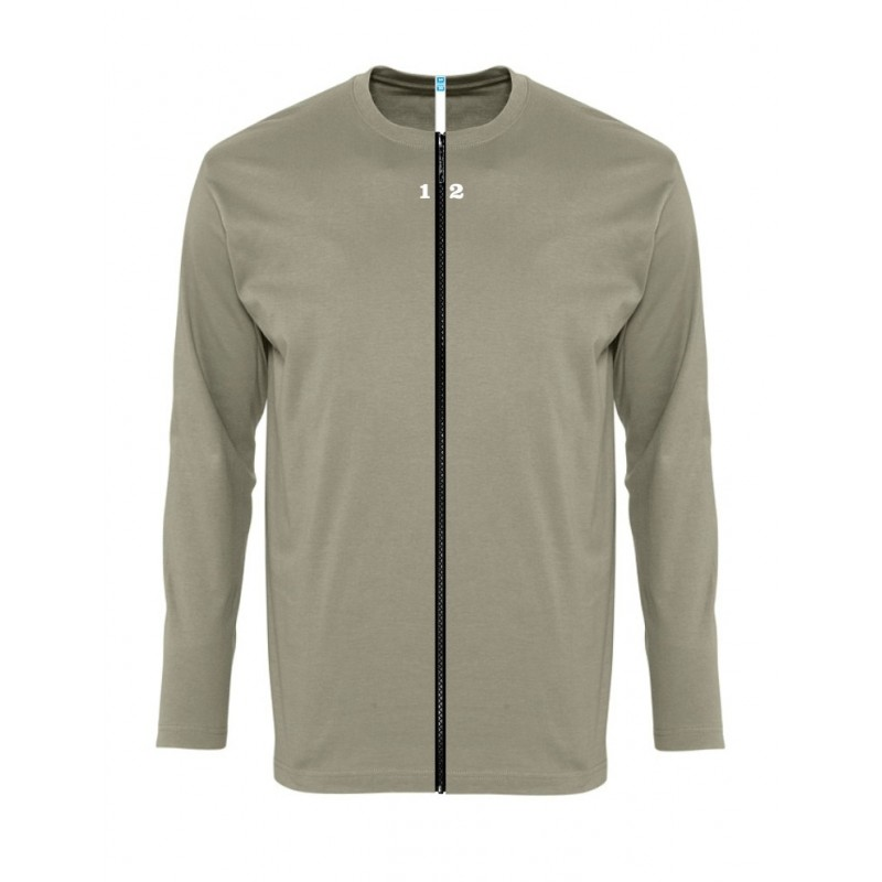Home T-shirt separable man long sleeve khaki - 12teeshirt.com