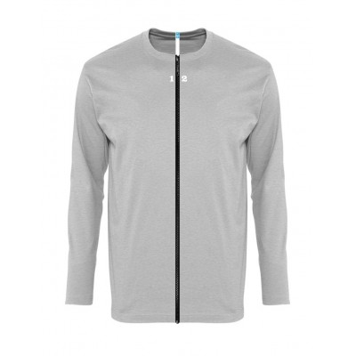 T-shirt separable man long sleeve grey melange
