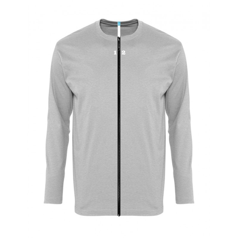 Home T-shirt separable man long sleeve grey melange - 12teeshirt.com