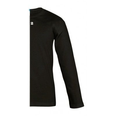 T-shirt bicolor children long sleeve right part black