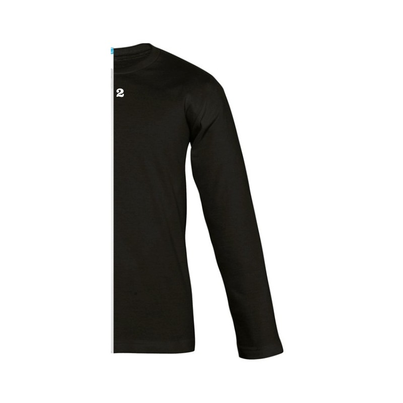 Home T-shirt bicolor children long sleeve right part black - 12teeshirt.com