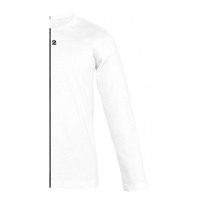 T-shirt bicolor children long sleeve right part white