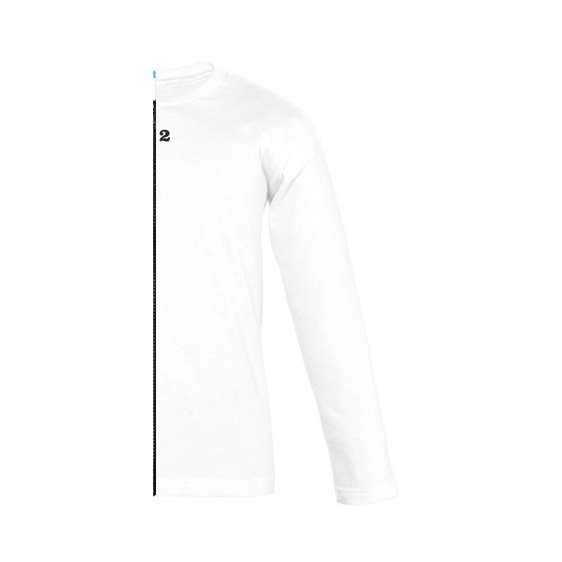 Home T-shirt bicolor children long sleeve right part white - 12teeshirt.com