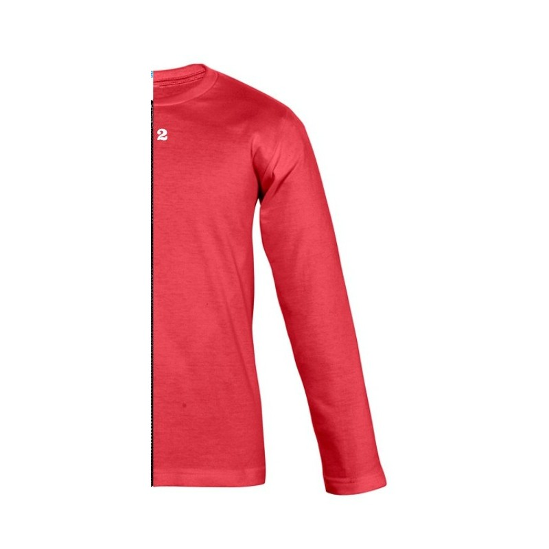 Home T-shirt bicolor children long right part sleeve red - 12teeshirt.com