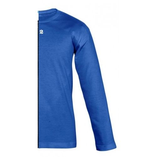 T-shirt bicolor children long sleeve right part royal blue