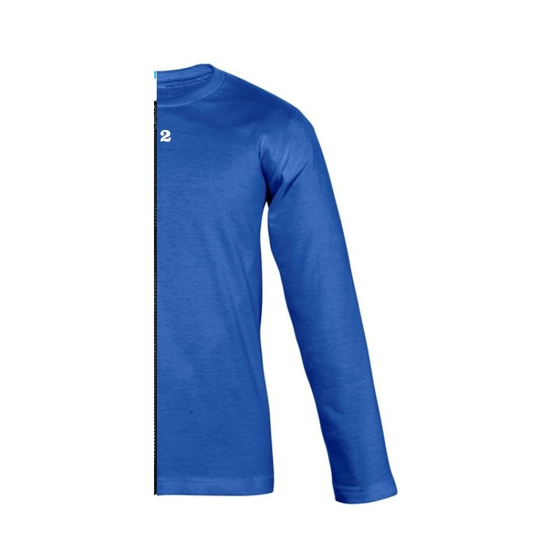 Home T-shirt bicolor children long sleeve right part royal blue - 12teeshirt.com