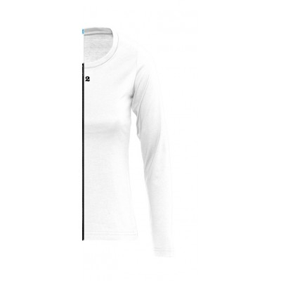 Home T-shirt bicolor woman long sleeve right part white - 12teeshirt.com