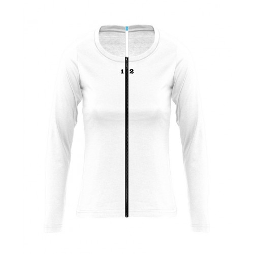 T-shirt separable woman long sleeve white