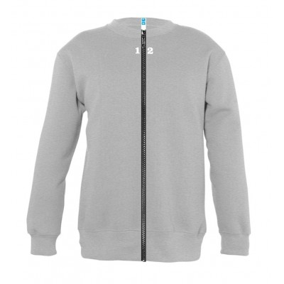 Sweat-shirt séparable enfant gris chiné