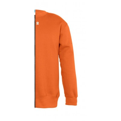 Sweat-shirt bicolore enfant côté droit orange