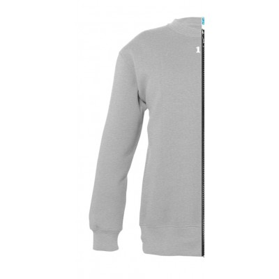 Sweat-shirt bicolor children left part grey melange