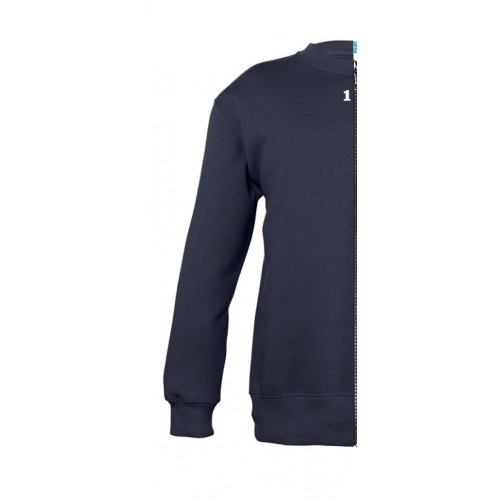 Sweat-shirt bicolor children left part navy blue