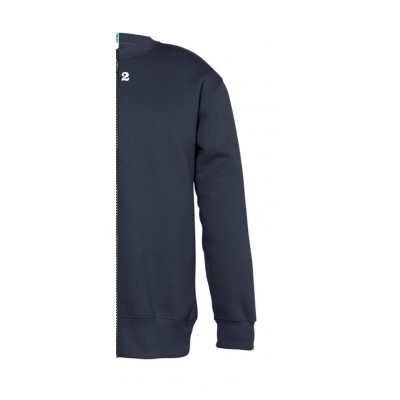 Sweat-shirt bicolor children right part navy blue