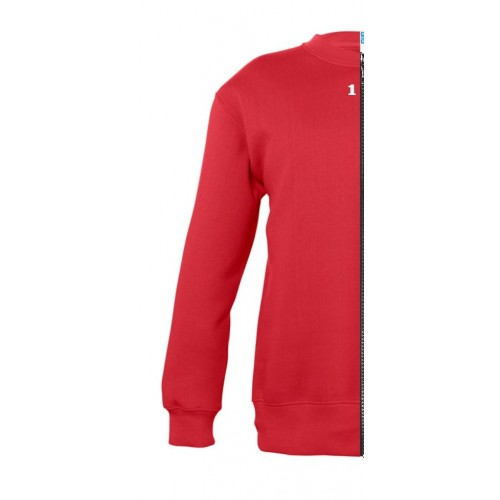 Sweat-shirt bicolor children left part red