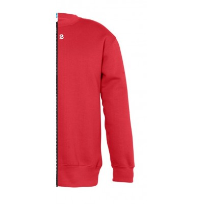 Sweat-shirt bicolor children right part red