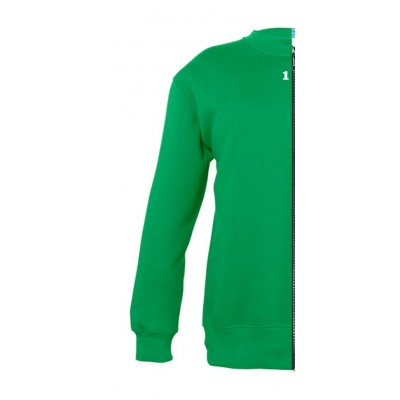 Sweat-shirt bicolor children left part kelly green