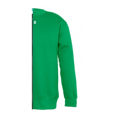 Sweat-shirt bicolor children right part kelly green
