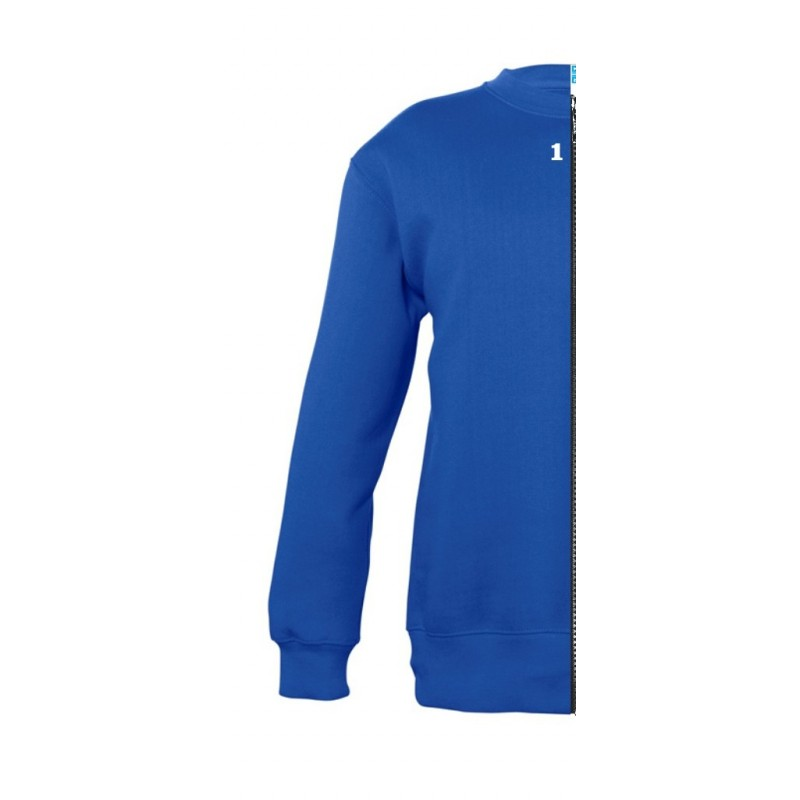 Home Sweat-shirt bicolor children left part royal blue - 12teeshirt.com