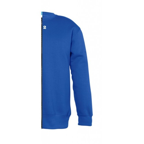 Sweat-shirt bicolore enfant côté droit bleu royal