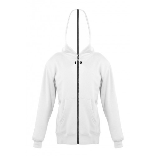 Sweat-shirt separable children with hood white