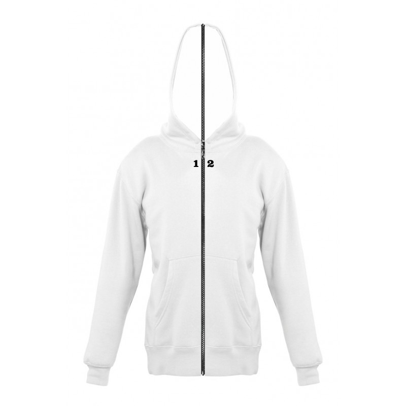 Home Sweat-shirt separable children with hood white - 12teeshirt.com