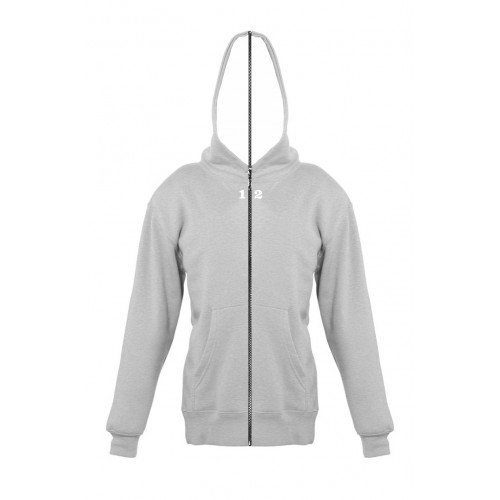 Sweat-shirt separable children with hood grey melange