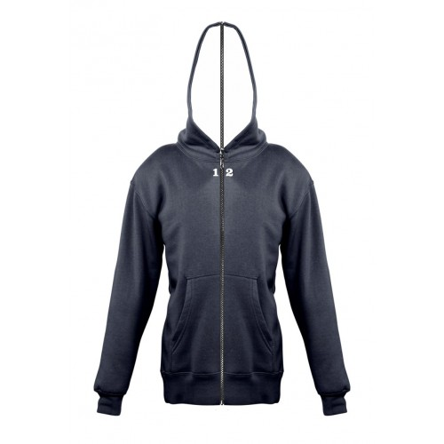Sweat-shirt separable children with hood navy blue