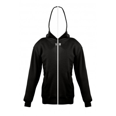 Sweat-shirt separable children with hood black
