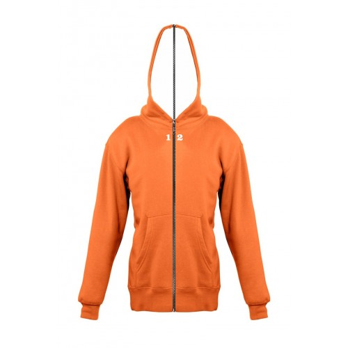 Sweat-shirt separable children with hood orange