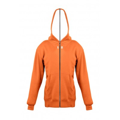 Sweat-shirt séparable enfant avec capuche orange