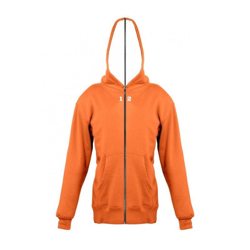 Home Sweat-shirt separable children with hood orange - 12teeshirt.com