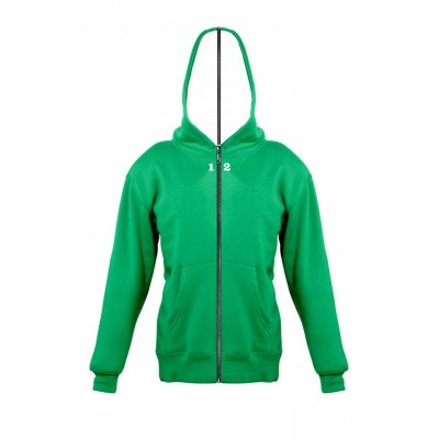 Sweat-shirt separable children with hood kelly green