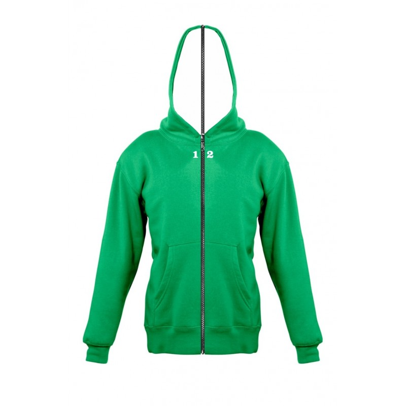 Home Sweat-shirt separable children with hood kelly green - 12teeshirt.com