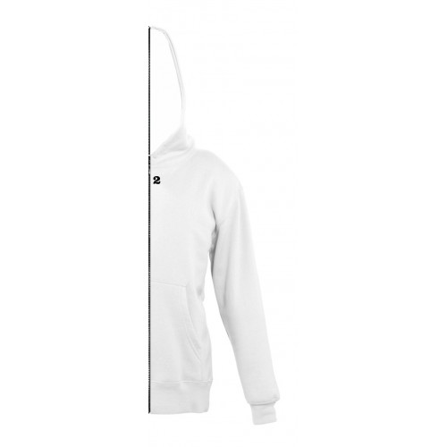 Sweat-shirt bicolor children right part with hood white