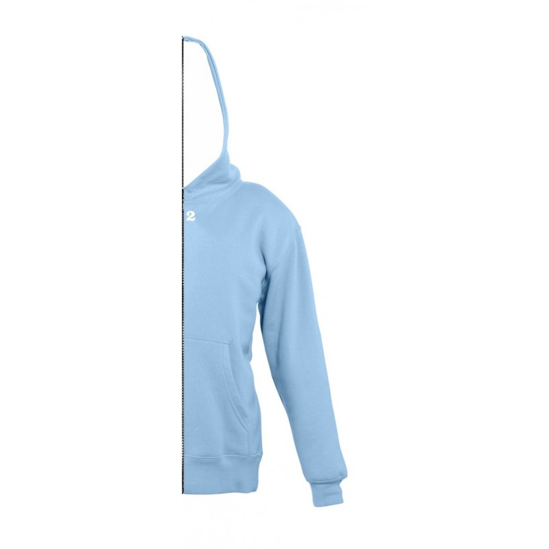 Home Sweat-shirt bicolor children right part with hood sky blue - 12teeshirt.com