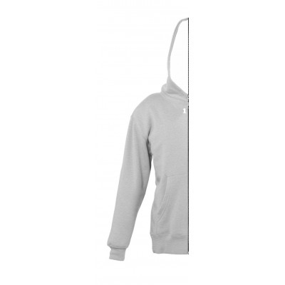 Sweat-shirt bicolor children left part with hood grey melange