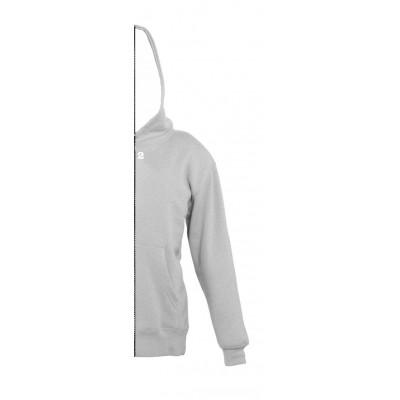 Sweat-shirt bicolor children right part with hood grey melange
