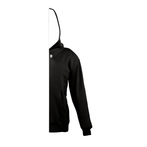 Sweat-shirt bicolor children right part with hood black
