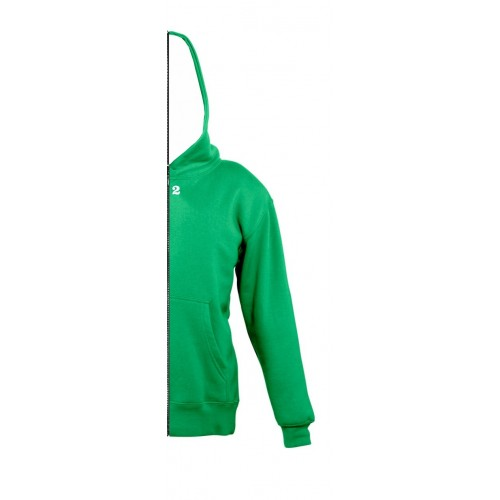 Sweat-shirt bicolor children right part with hood kelly green