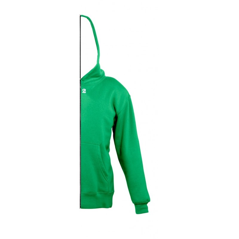 Home Sweat-shirt bicolor children right part with hood kelly green - 12teeshirt.com