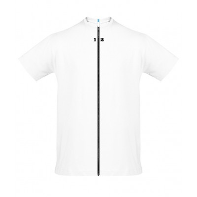 T-shirt separable man short sleeve white