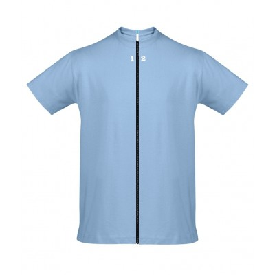 T-shirt separable man short sleeve sky blue